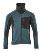 17484-319-4409 Sweatshirt zippé - Bleu pétrole