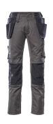 17631-442-1809 Pantalon avec poches genouillères et poches flottantes - Anthracite foncé/Noir