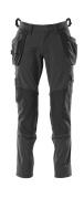 18031-311-09 Broek met knie- en spijkerzakken - zwart