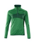 18053-316-33303 Fleecetrui met korte rits - helder groen/groen