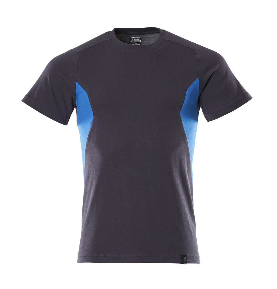 18082-250-01091 T-shirt - donkermarine/helder blauw
