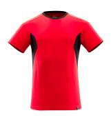 18082-250-20209 T-shirt - signaalrood/zwart