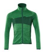18103-316-33303 Pull polaire zippé - vert gazon/vert bouteille