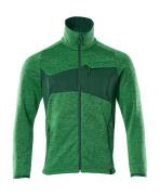 18105-951-33303 Gebreide trui met rits - helder groen/groen