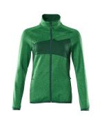 18153-316-33303 Fleecetrui met rits - helder groen/groen