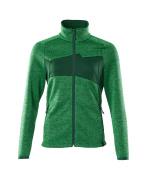 18155-951-33303 Gebreide trui met rits - helder groen/groen