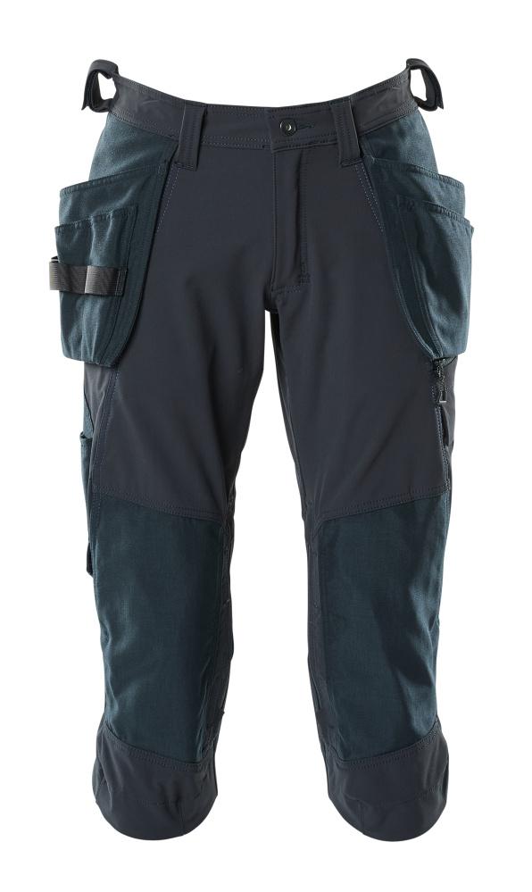 18249-311-010 Driekwart broek met knie- en spijkerzakken - donkermarine