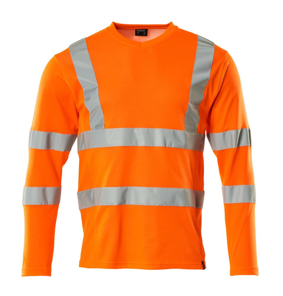 18281-995-14 T-shirt, met lange mouwen - hi-vis oranje