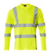 18281-995-17 T-shirt, met lange mouwen - hi-vis geel
