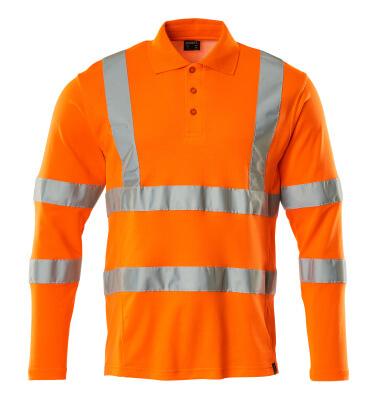 18283-995-14 Poloshirt, met lange mouwen - hi-vis oranje