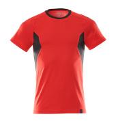 18382-959-20209 T-shirt - signaalrood/zwart