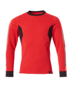 18384-962-20209 Sweatshirt - Rouge trafic/Noir