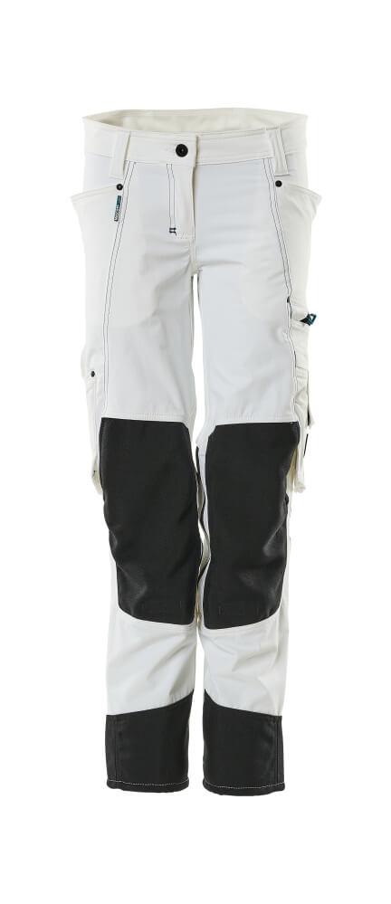 18388-311-06 Pantalon avec poches genouillères - Blanc