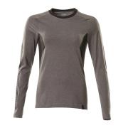 18391-959-1809 T-shirt, met lange mouwen - donkerantraciet/zwart