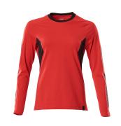 18391-959-20209 T-shirt, met lange mouwen - signaalrood/zwart