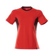 18392-959-20209 T-shirt - signaalrood/zwart