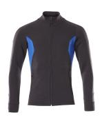 18484-962-01091 Sweatshirt met rits - donkermarine/helder blauw