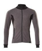 18484-962-1809 Sweatshirt met rits - donkerantraciet/zwart