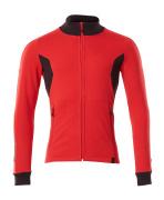 18484-962-20209 Sweatshirt zippé - Rouge trafic/Noir