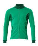 18484-962-33303 Sweatshirt zippé - vert gazon/vert bouteille