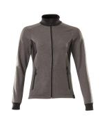 18494-962-1809 Sweatshirt met rits - donkerantraciet/zwart