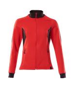 18494-962-20209 Sweatshirt met rits - signaalrood/zwart