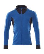 18584-962-91010 Capuchontrui met rits - helder blauw/donkermarine