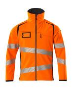 19002-143-14010 Veste softshell - Hi-vis orange/Marine foncé