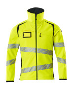 19002-143-14010 Veste softshell - Hi-vis orange/Marine foncé