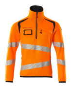 19005-351-14010 Pull demi-zippé - Hi-vis orange/Marine foncé