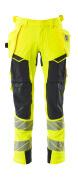 19031-711-14010 Pantalon avec poches flottantes - Hi-vis orange/Marine foncé