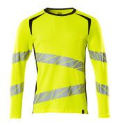 19081-771-14010 T-shirt, manches longues - Hi-vis orange/Marine foncé