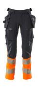 19131-711-01014 Broek met spijkerzakken - donkermarine/hi-vis oranje