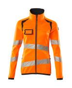19153-315-14010 Pull polaire zippé - Hi-vis orange/Marine foncé