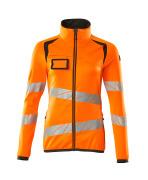 19153-315-1418 Pull polaire zippé - Hi-vis orange/Anthracite foncé