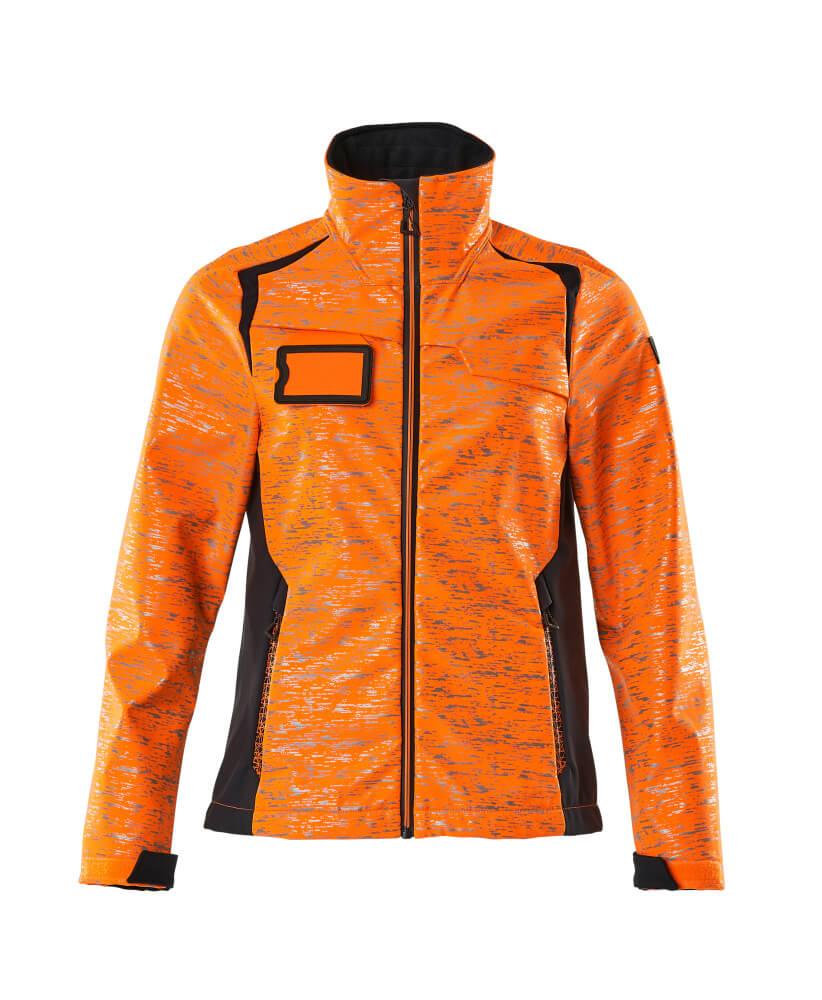 19212-291-14010 Softshell jas - hi-vis oranje/donkermarine