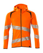 19284-781-14010 Sweat capuche zippé - Hi-vis orange/Marine foncé