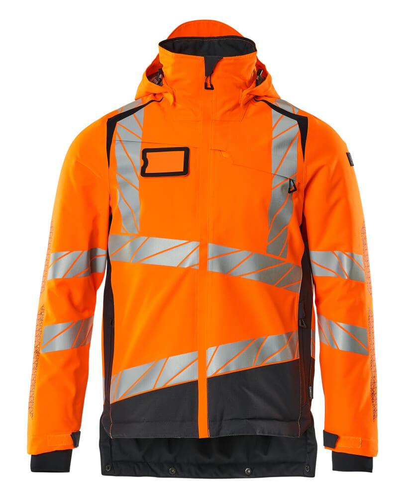 19335-231-14010 Veste grand froid - Hi-vis orange/Marine foncé