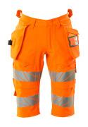 19349-711-14 Short long avec poches flottantes - Hi-vis orange
