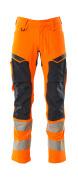 19479-711-14010 Broek met kniezakken - hi-vis oranje/donkermarine