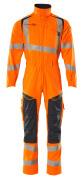 19519-236-14010 Overall met kniezakken - hi-vis oranje/donkermarine