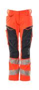 19578-236-14010 Pantalon avec poches genouillères - Hi-vis orange/Marine foncé