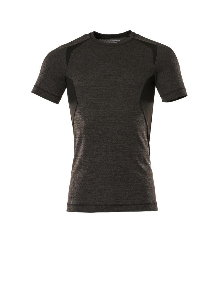 19882-794-1809 Functioneel hemd, met korte mouwen - donkerantraciet/zwart