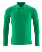 20483-961-333 Poloshirt, met lange mouwen - helder groen