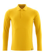 20483-961-70 Poloshirt, met lange mouwen - Kerriegoud