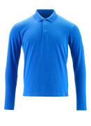 20483-961-91 Poloshirt, met lange mouwen - helder blauw