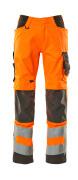20879-236-1418 Broek met kniezakken - hi-vis oranje/donkerantraciet