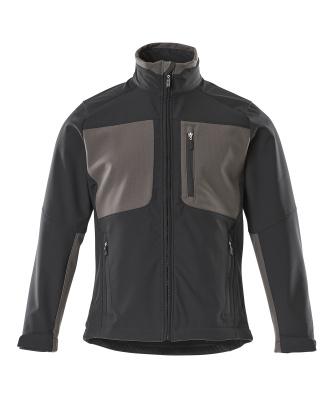 50057-824-0918 Softshell jack - zwart/donkerantraciet