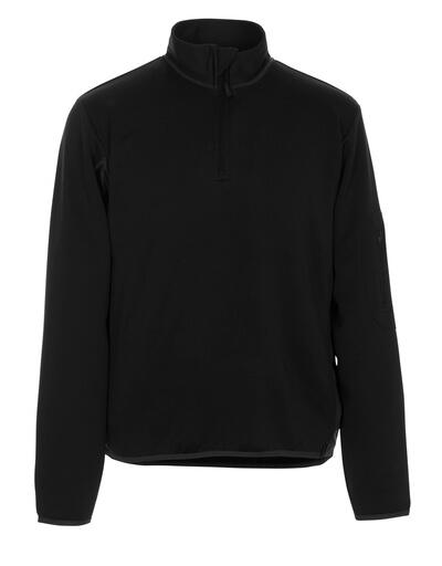 50068-828-0918 Polosweatshirt - zwart/donkerantraciet