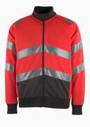 50116-950-A49 Sweatshirt zippé - Hi-vis rouge/Anthracite foncé